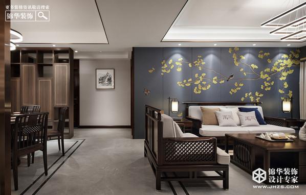 新中式风格-406㎡-别墅装修案例
