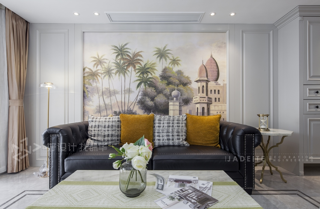 轻奢美式风格-三室两厅-130平米