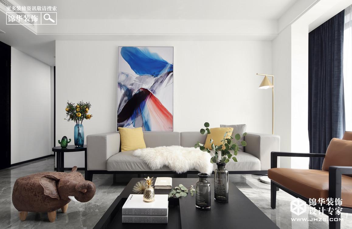 紫金华府-120平-三室两厅-现代风格-实景案例