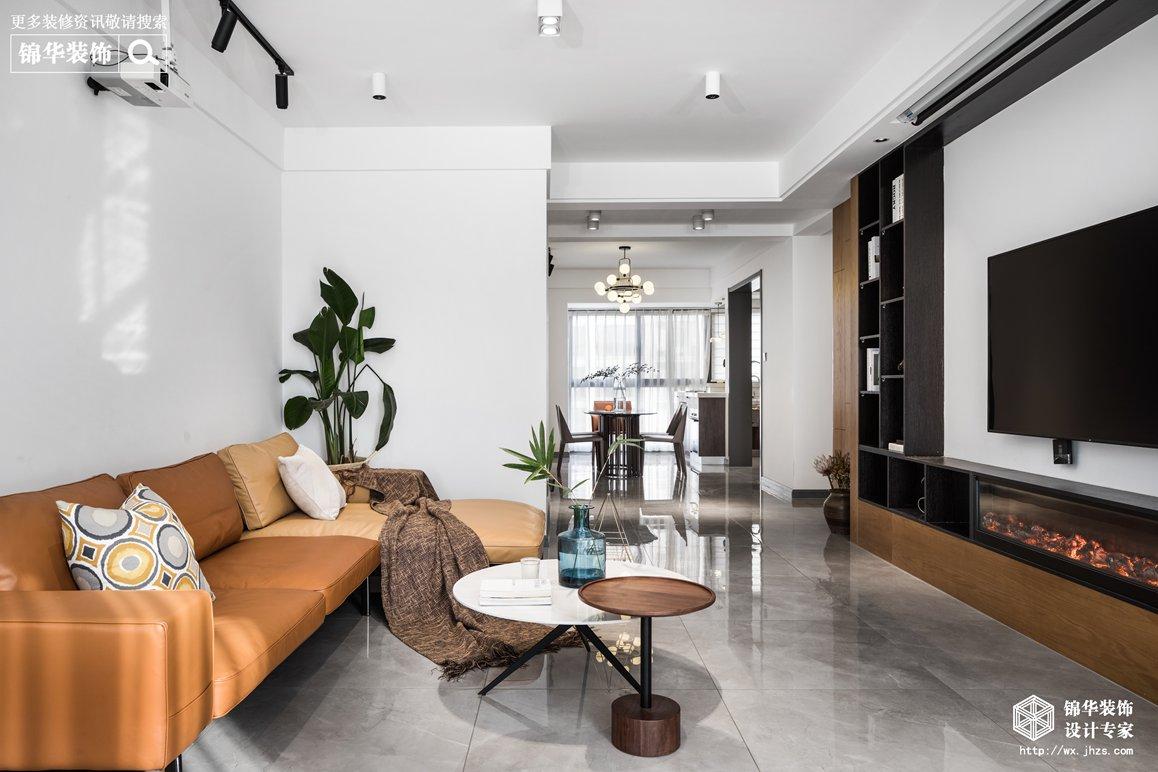 现代简约-三室两厅-128平-实景效果图