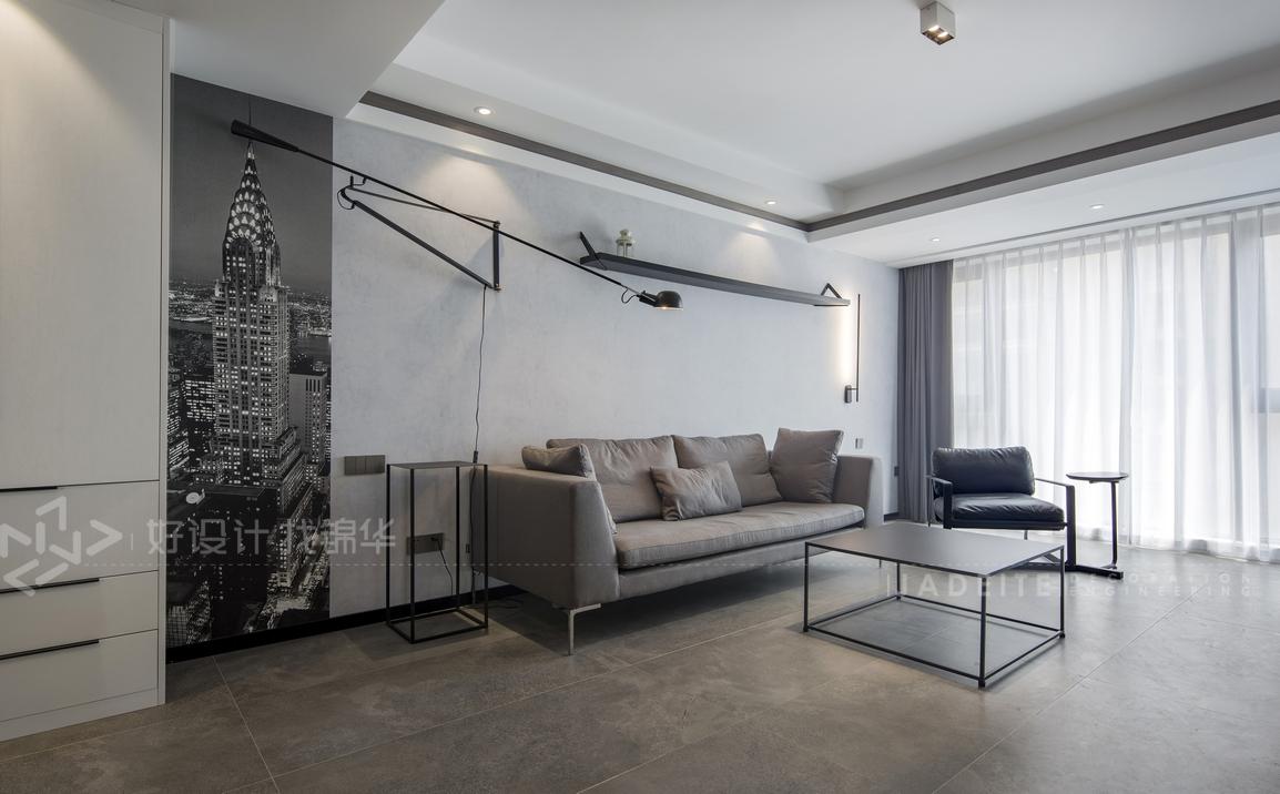 现代简约-三室两厅-125平米-实景效果图
