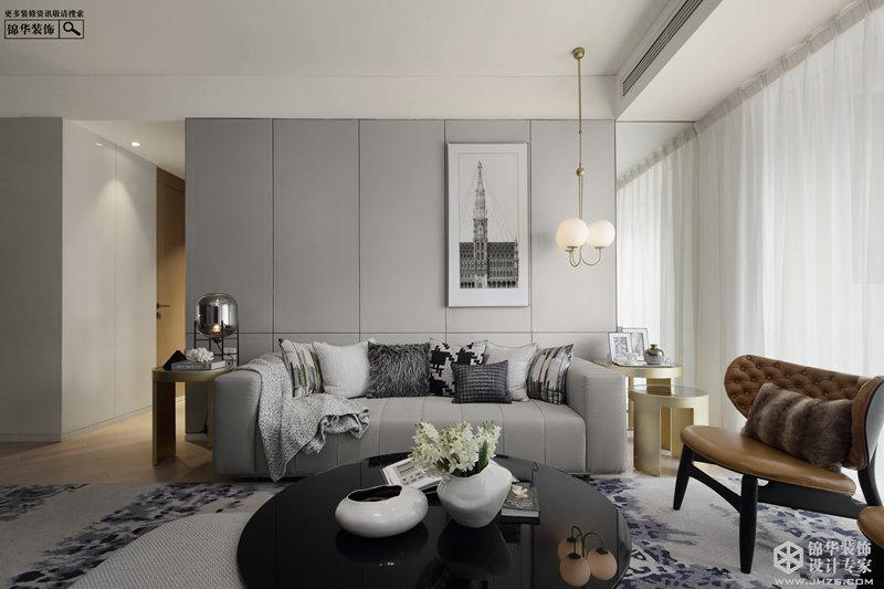 现代简约风格-三室一厅-125㎡-装修实景效果图