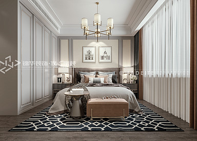 金领聚丰园-美式轻奢风格-三室两厅-装修效果图