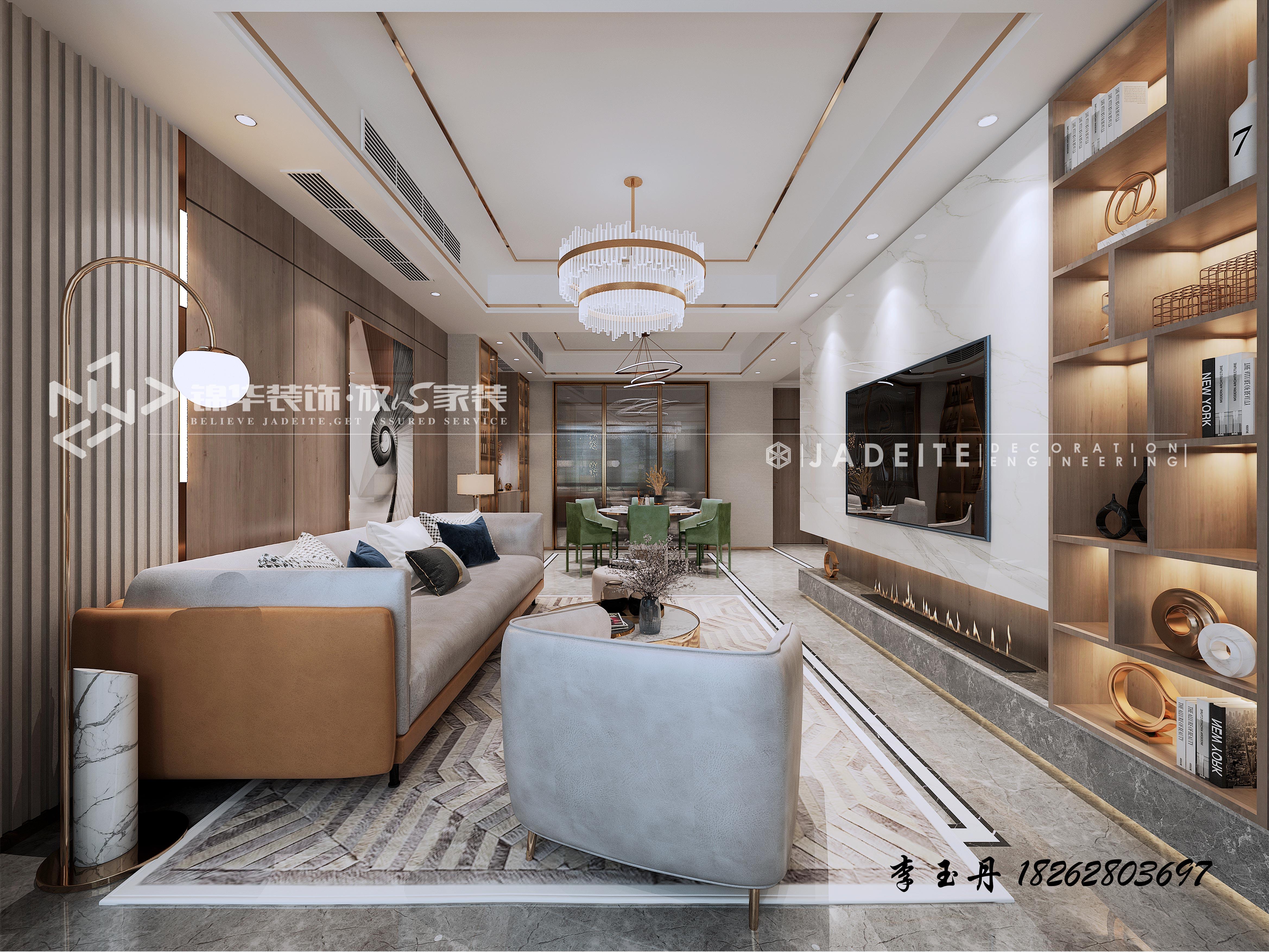 碧桂园凤城府-中叠-现代轻奢风格-装修效果图
