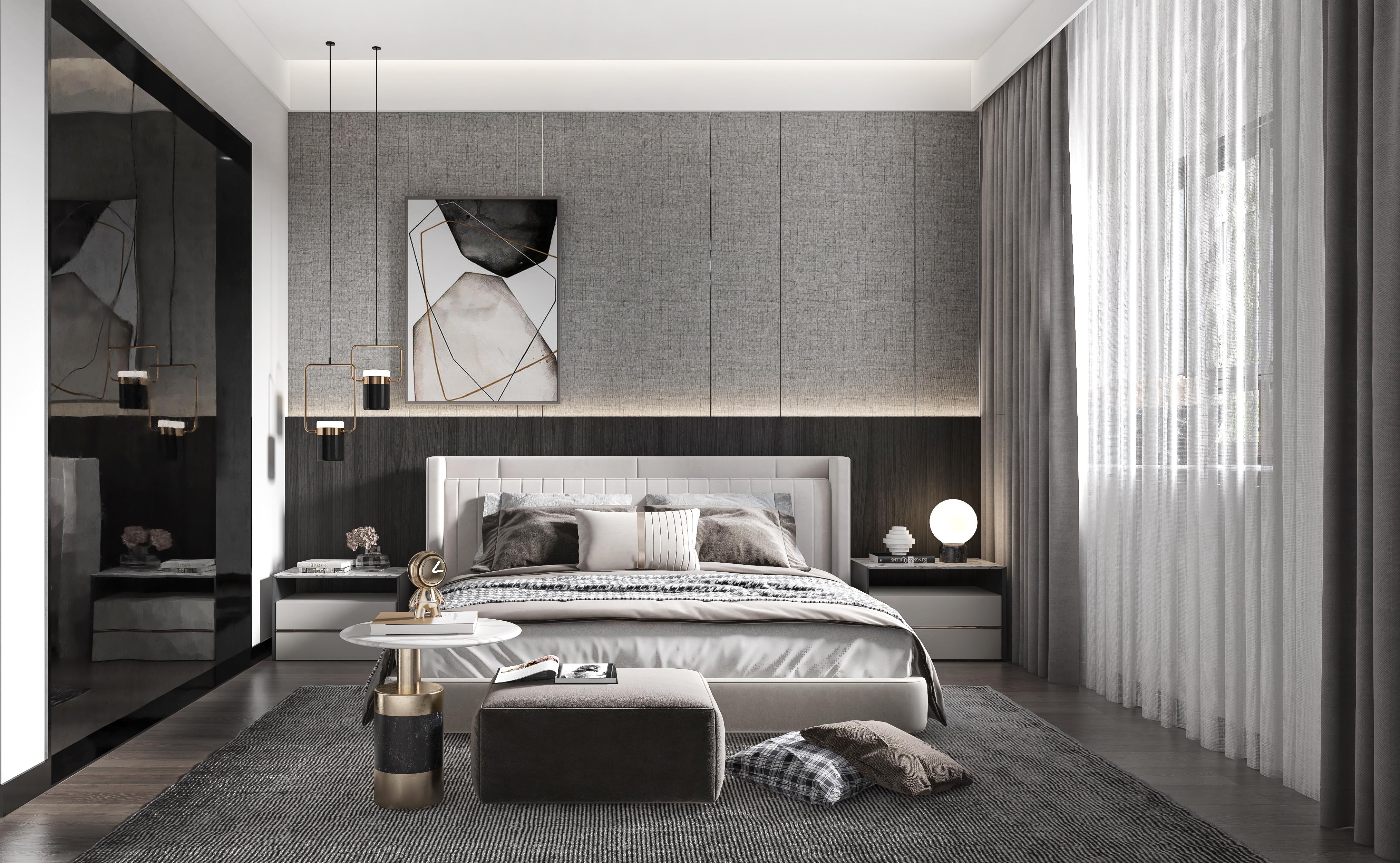 华润国际二期-现代简约-160㎡-三室两厅