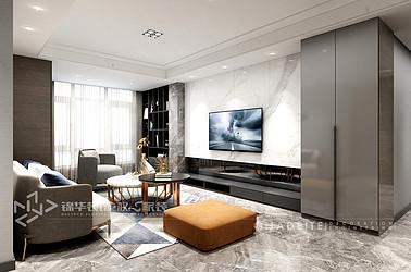 明发国际-现代风格-120㎡-三室两厅