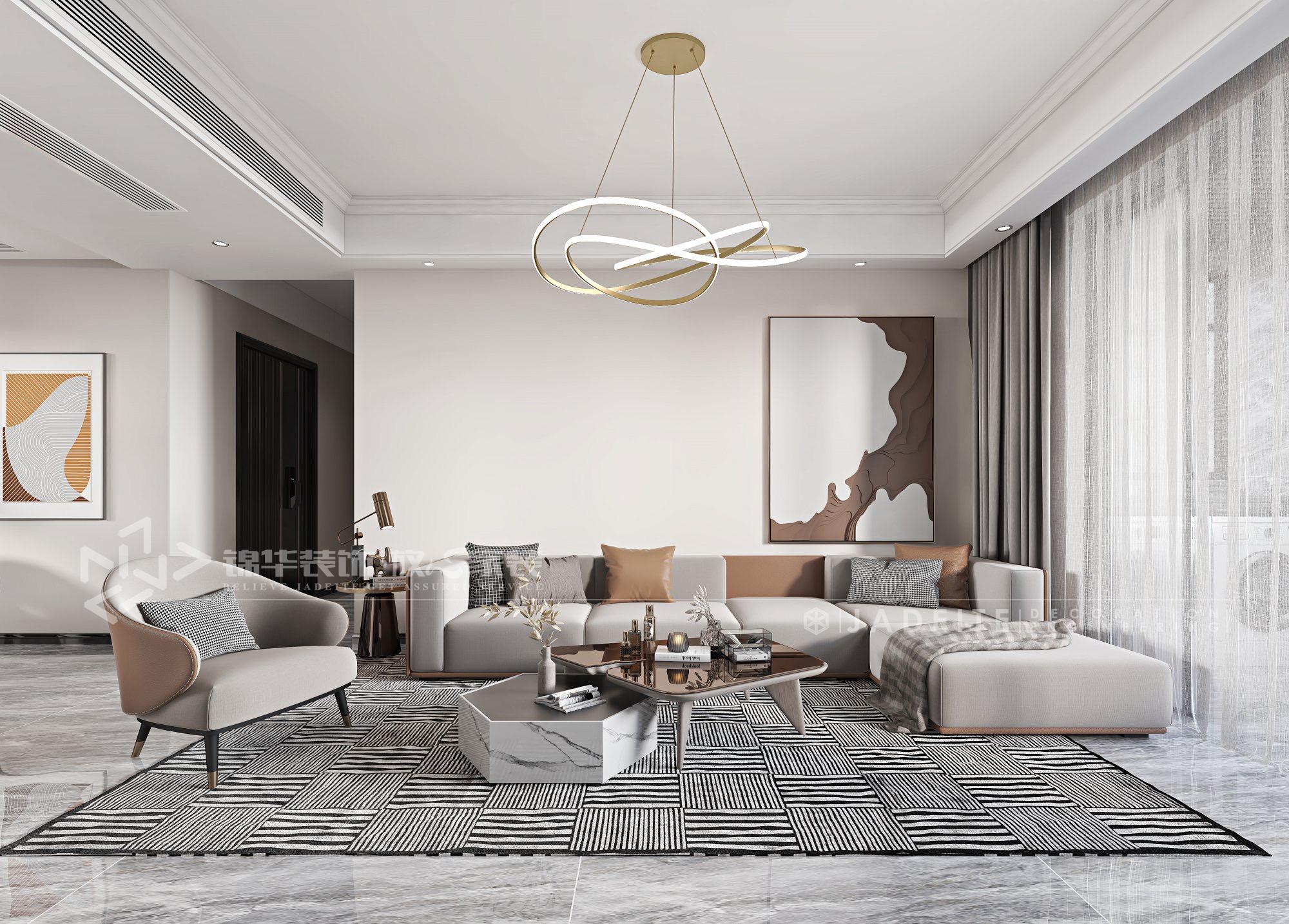 世茂璀璨泱颂-现代简约-140㎡-三室两厅