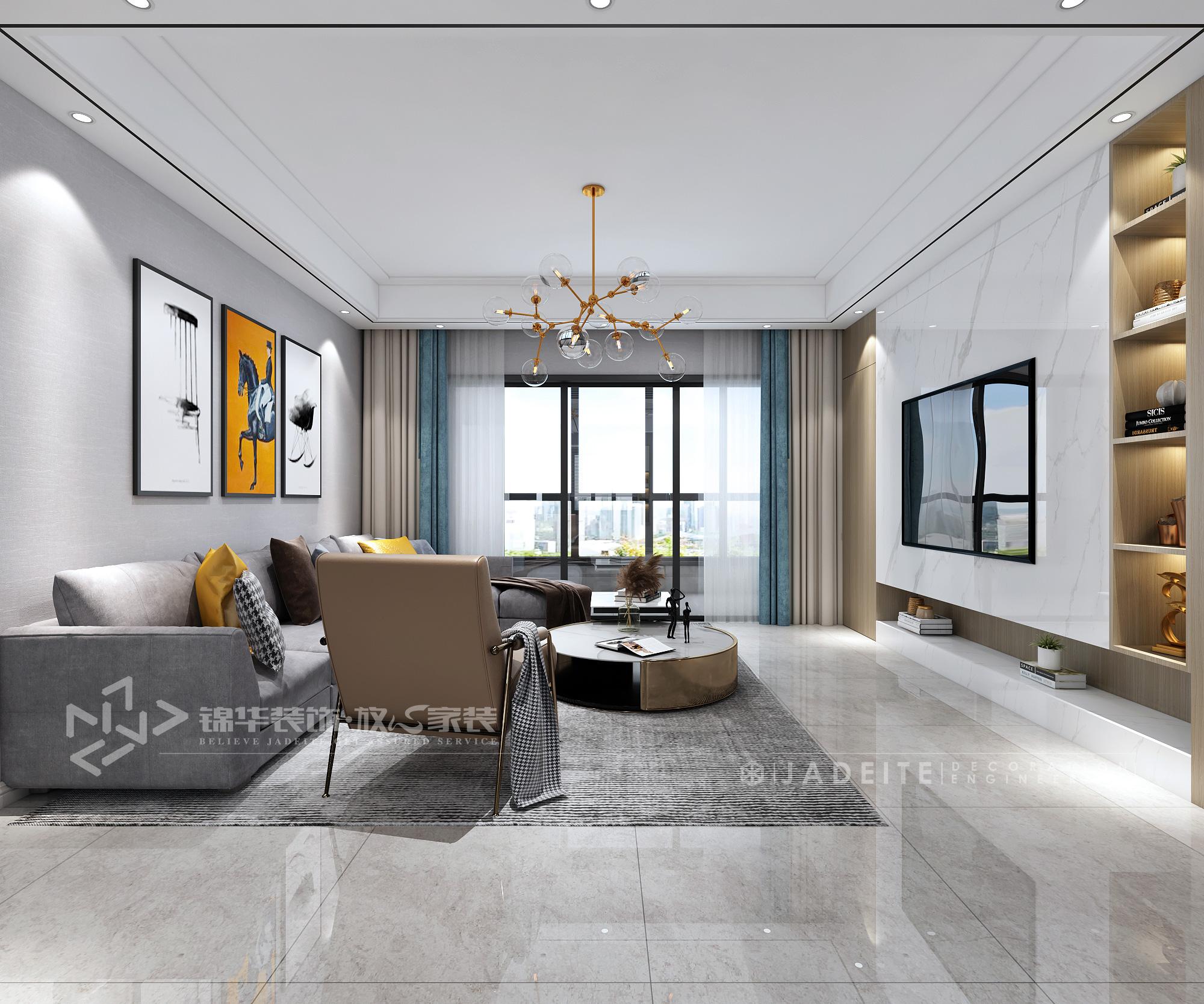 碧桂园湖悦天境-现代简约-140㎡-四室两厅