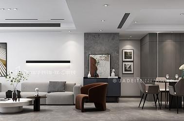 周山汇水-现代简约-130㎡-三室两厅