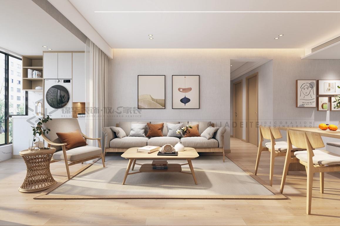 文旅和院-日式风格-98㎡-三室两厅