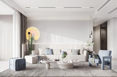 现代简约-世贸璀璨-139㎡-三室两厅