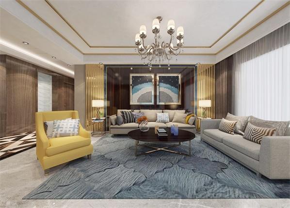 新湖明珠城150平现代风格效果图