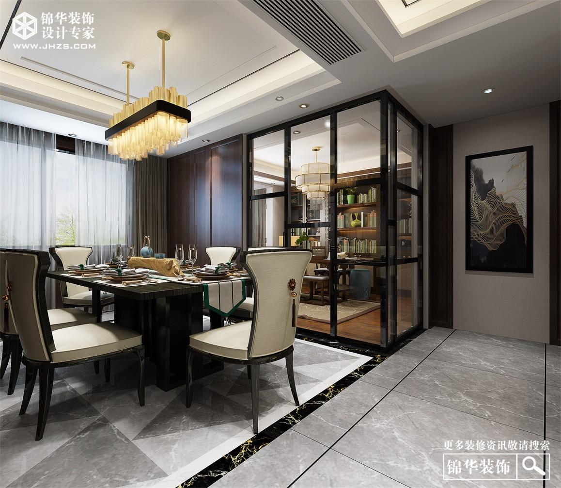 绿地太湖城150平新中式风格装修-三室两厅-新中式