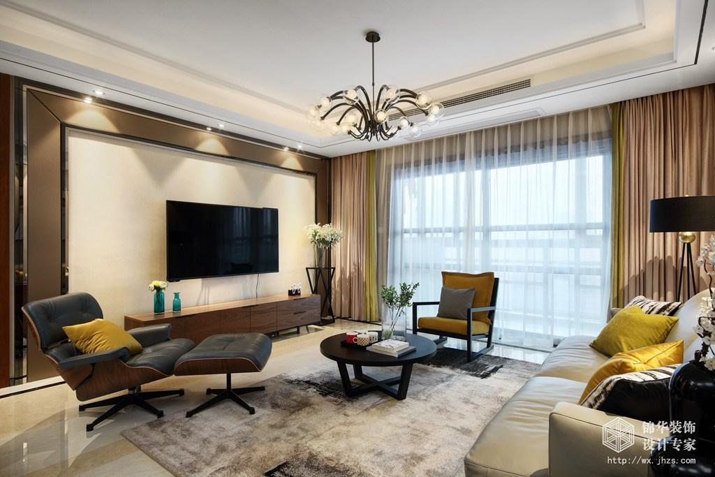 180平四室两厅两卫现代风格实景图