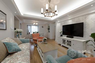 130平三室两厅两卫简美风格 实景图