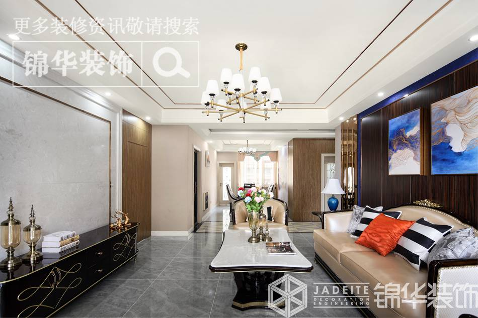 150平混搭风格实景图装修-三室两厅-混搭