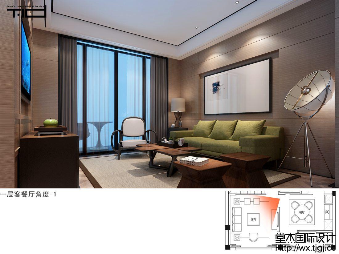 迷你别墅240平新中式风格效果图
