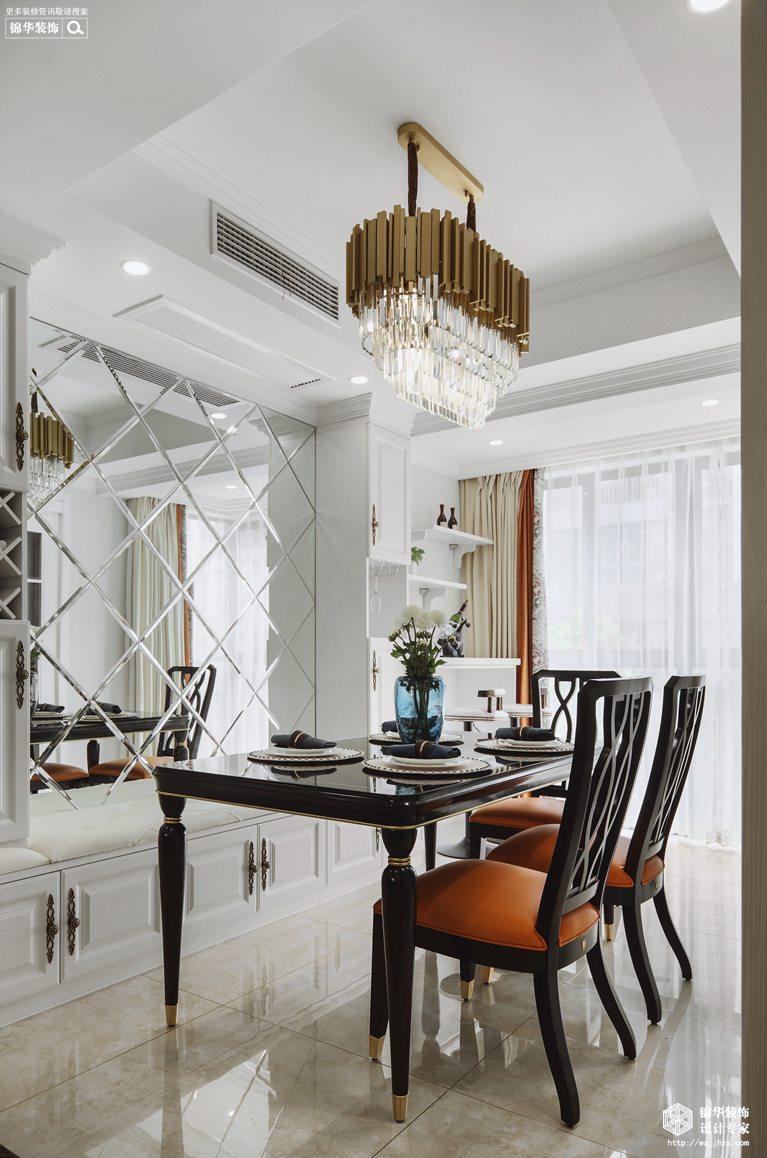 石湖山水居120平美式轻奢风格实景图装修-三室两厅-简美