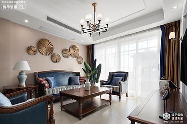 美式风格-映月华府-四室两厅-98平-装修实景效果图