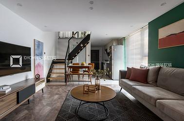 现代北欧-两室两厅-48平-装修实景效果图