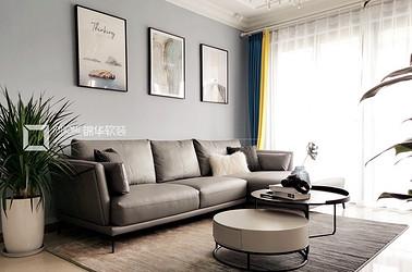 现代风格-恒大御澜湾-118平-三室两厅-装修实景效果图
