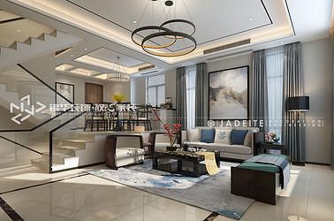 现代风格-中海国际社区-260平-联排别墅-装修效果图