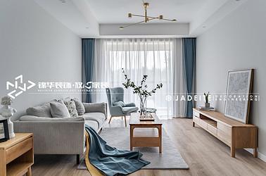 北欧-大运河府-100平-三室两厅-装修效果实景图