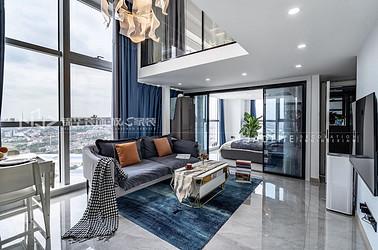 现代轻奢-聚珑阁-110平-两室一厅-装修效果实景图