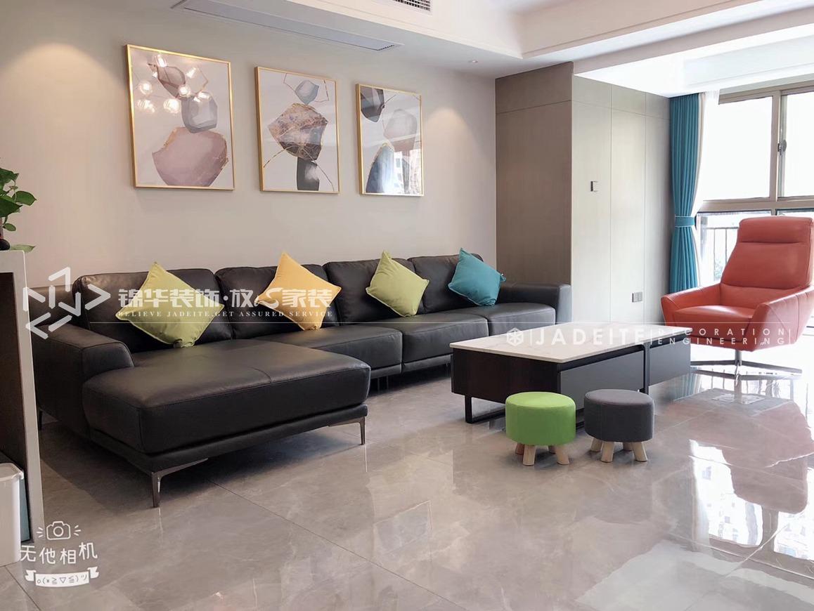 现代风格-奥林清华御园-四室两厅-187平-装修实景效果图