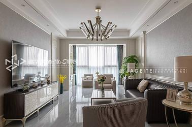 轻奢风格-苏州湾景苑-三室两厅-220平-装修实景效果图