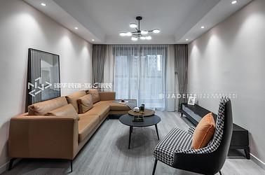 现代简约-大运河府-三室两厅-99平-装修实景效果图