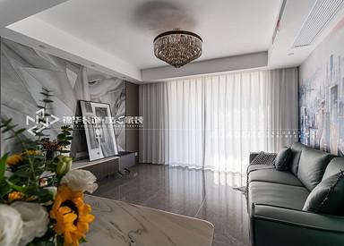 现代简约-绿地香奈-四室两厅-149平-装修实景效果图