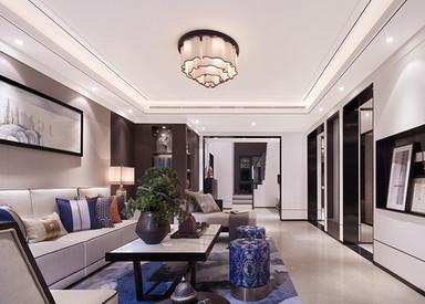 新中式-绿园-别墅-350平-装修实景效果图