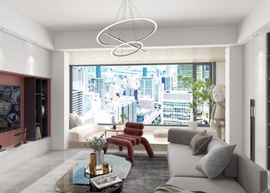 现代简约-吴越府-三室两厅-120平-装修效果图
