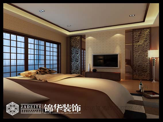 中国风装修-两室一厅装修效果图-新中式风格