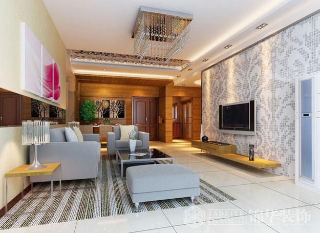亲密空间装修-两室两厅装修效果图-现代简约风格