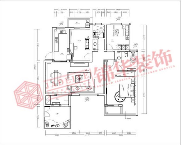 BOSS装修-两室一厅-现代简约