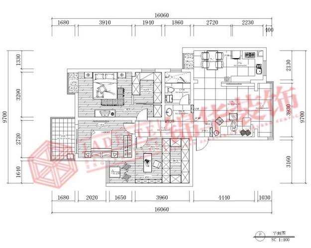张扬·红装修-两室一厅-新中式