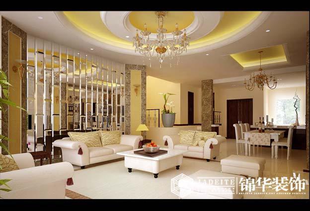 洛神装修-三室一厅装修效果图-简欧风格