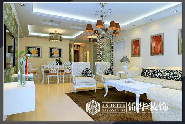 简约欧式装修 三室两厅装修效果图 现代简约风格 无锡锦华装饰