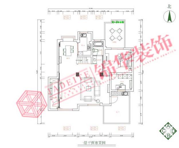 长江国际装修-三室两厅-现代简约