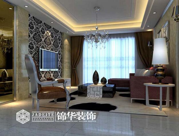 低调奢华装修-三室两厅-简欧