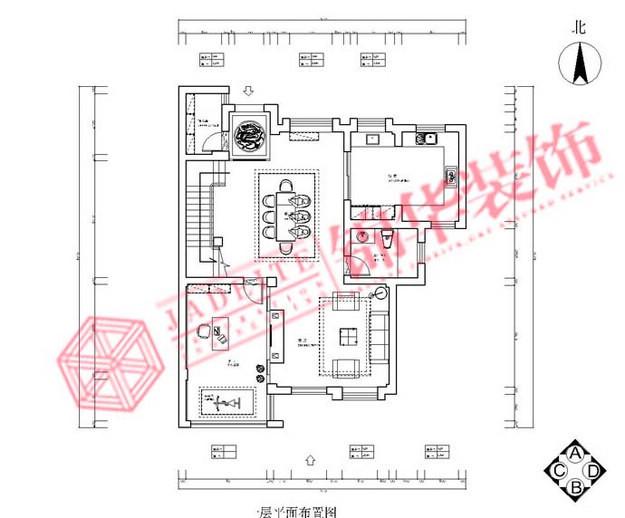 都市风情装修-三室两厅装修效果图-现代简约风格-无锡