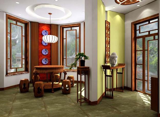 新中式装修-三室两厅-新中式图片