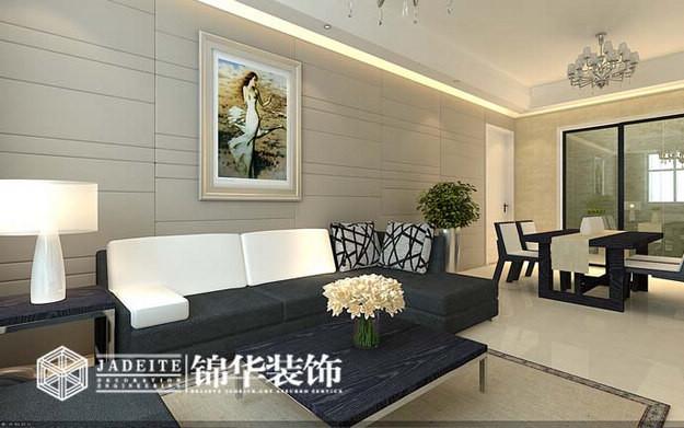 万科魅力简约风格三室两厅效果图 装修-三室两厅-现代简约