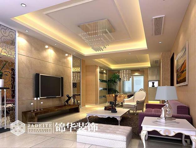 万裕苑简约风格三室两厅效果图 装修-三室两厅-现代简约