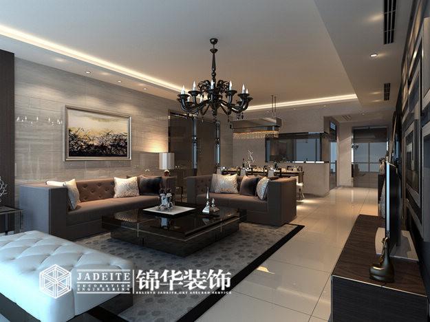 太湖国际装修-三室两厅装修效果图-现代简约风格
