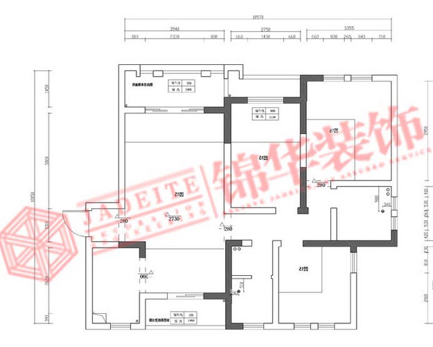 盛世新城简约风格三室两厅效果图装修-三室两厅-现代简约