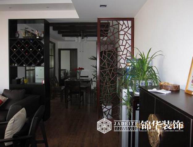 清扬康臣中式风格三室两厅效果图装修-三室两厅-新中式