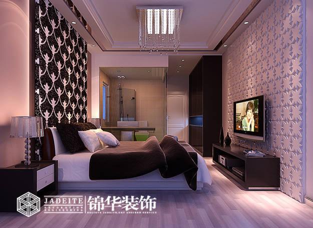 简约风格三室两厅效果图装修-三室两厅-现代简约